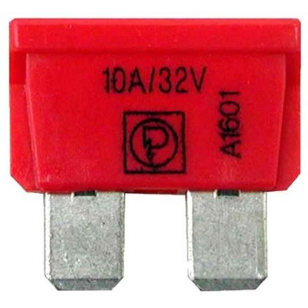 AGTECH Bezpiecznik płaski  10A czerwony | 50750295510 / opakowanie 50 szt.