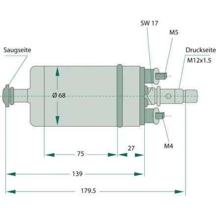 Bosch Diesel-Elektrokraftstoffpumpe