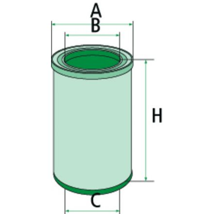 Filtr dokładny powietrza | 565C13114.8