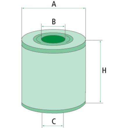Filtr oleju hydraulicznego/przekładniowego | D 28 E 197.24