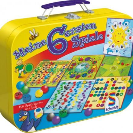 Schmidt Spiele Moje pierwsze gry - zestaw 6 gier w metalowym puełku