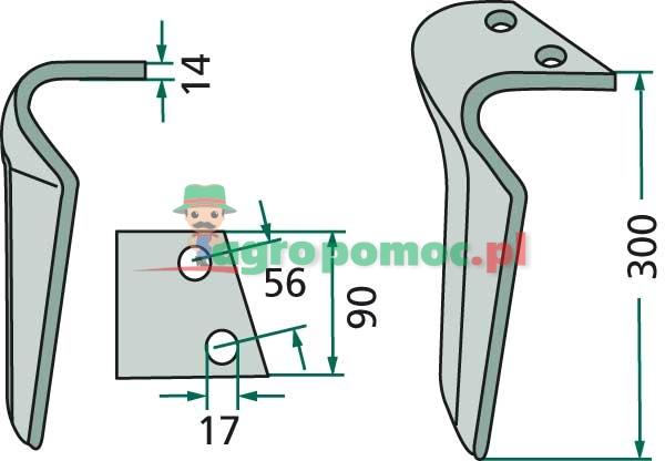 Ząb brony aktywnej | RH-109-DEL | zdjęcie nr 2