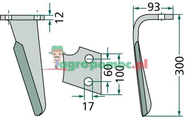 Ząb brony aktywnej | RH-ALP-04L | zdjęcie nr 2