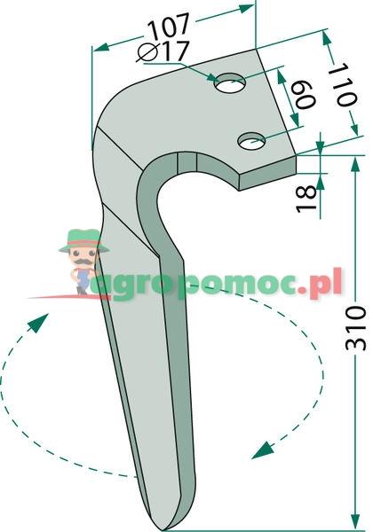 Ząb brony aktywnej | 07401, RH-ALP-08R | zdjęcie nr 2