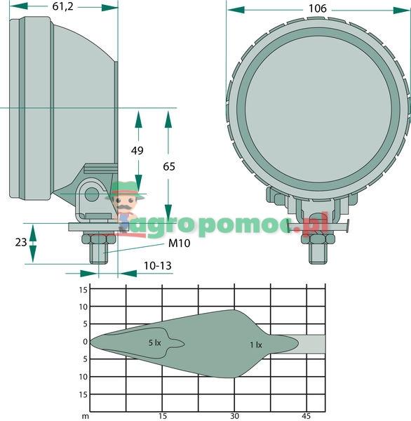 Bosch Reflektor roboczy | 1GA 007 506-001, 0 605315 16 | zdjęcie nr 2