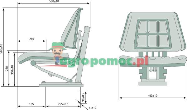 Siedzenie do ciągnika 24000067 - GRANIT | 24000067 | zdjęcie nr 2