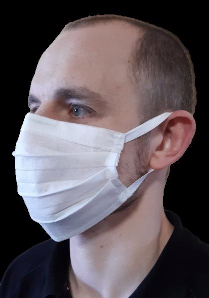100 szt. Maska ochronna jednorazowa na gumkach | zdjęcie nr 1