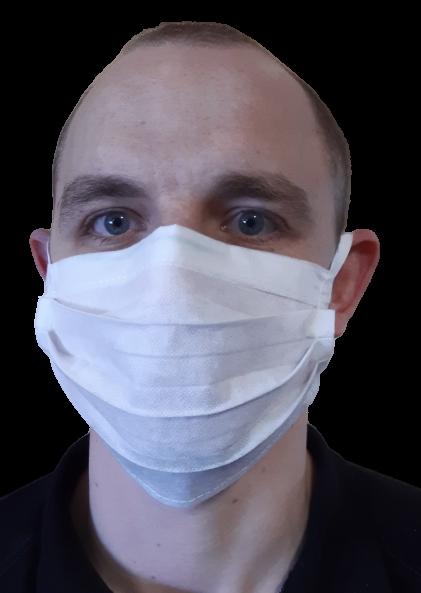 100 szt. Maska ochronna jednorazowa na gumkach | zdjęcie nr 3