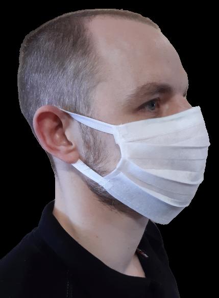 100 szt. Maska ochronna jednorazowa na gumkach | zdjęcie nr 2