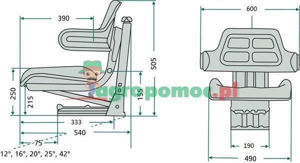 Ursus Siedzenie dwudzielne z podłokietnikami | 46.64.000.1 | zdjęcie nr 2