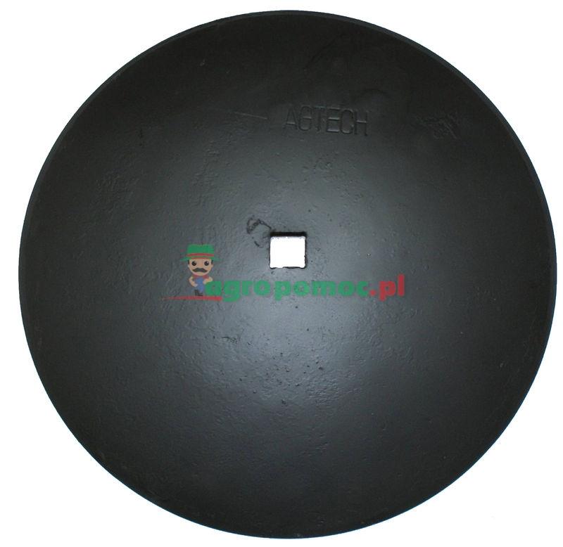 AGTECH Talerz gładki D = fi 560 mm,  C = otwór 30x30 mm, F = 65 mm,  S = 4 mm | 1202030120 | zdjęcie nr 1