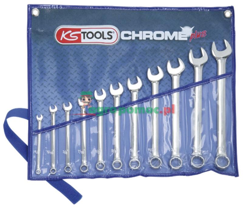 KS Tools Klucz szczękowo-oczkowy -zestaw   zdjęcie nr 1