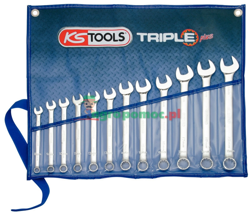 KS Tools Klucz szczękowo-oczkowy -zestawy | zdjęcie nr 1
