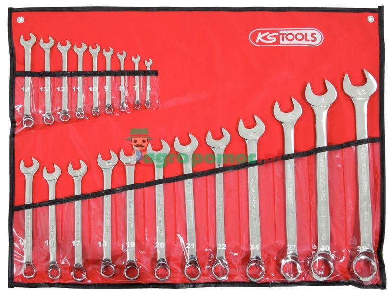 KS Tools Klucz szczękowo-oczkowy -zestawy   zdjęcie nr 1