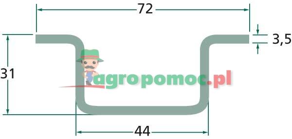 Prowadnica łańcucha Krone 218023.0   218023.0   zdjęcie nr 2