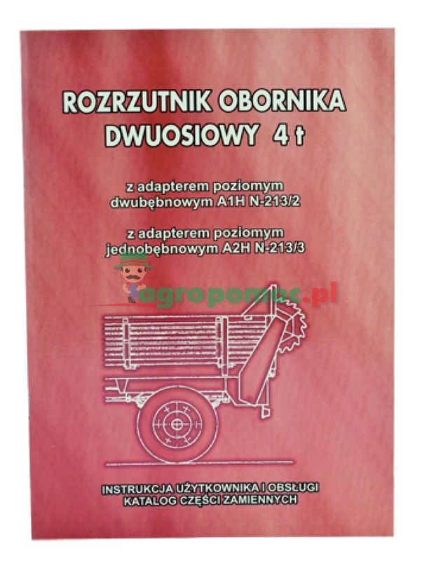 AGTECH Katalog rozrzutnik obornika  A1HN-213/2 / A2HN-213/3 4 tony | Rozrzutnik obornika A1HN-213/2 / A2HN-213/3