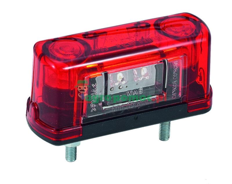 AGTECH Lampa diodowa oświetlenia tablicy rejestracyjnej W53 12V-24V | 245 / WAŚ