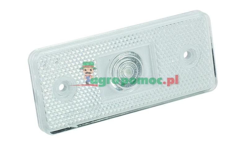 AGTECH Lampa zespolona obrysowa przednia W17d 12-24V | 105P / WAŚ