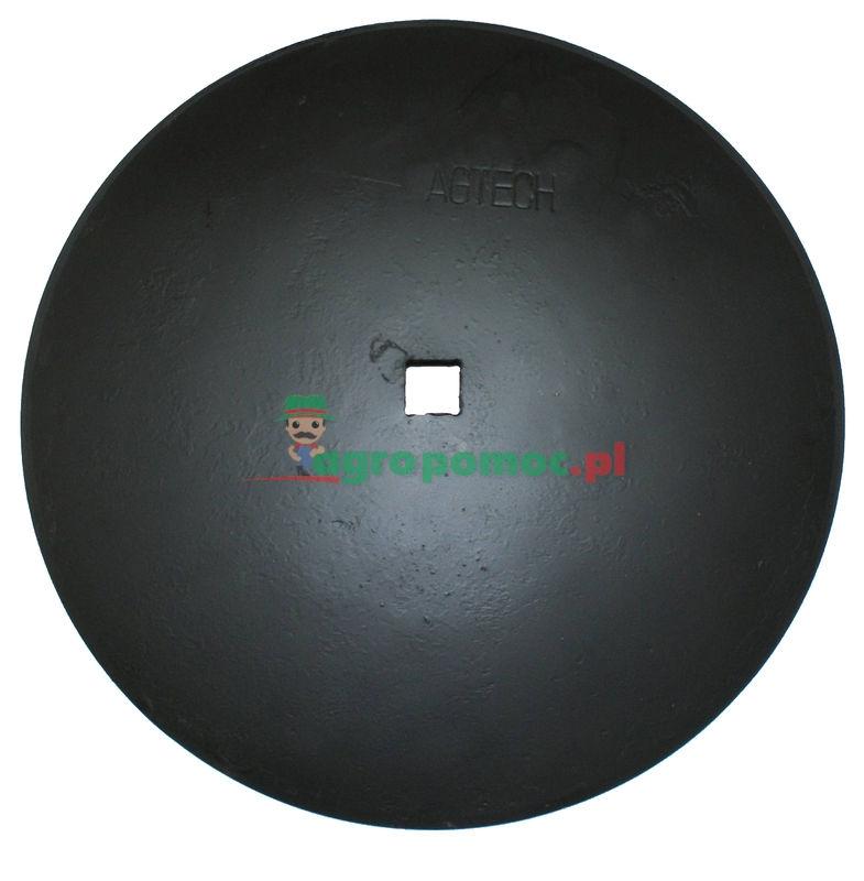 AGTECH Talerz gładki D = fi 510 mm,  C = otwór 30x30 mm, F = 55 mm,  S = 3,5 mm | 1240040020