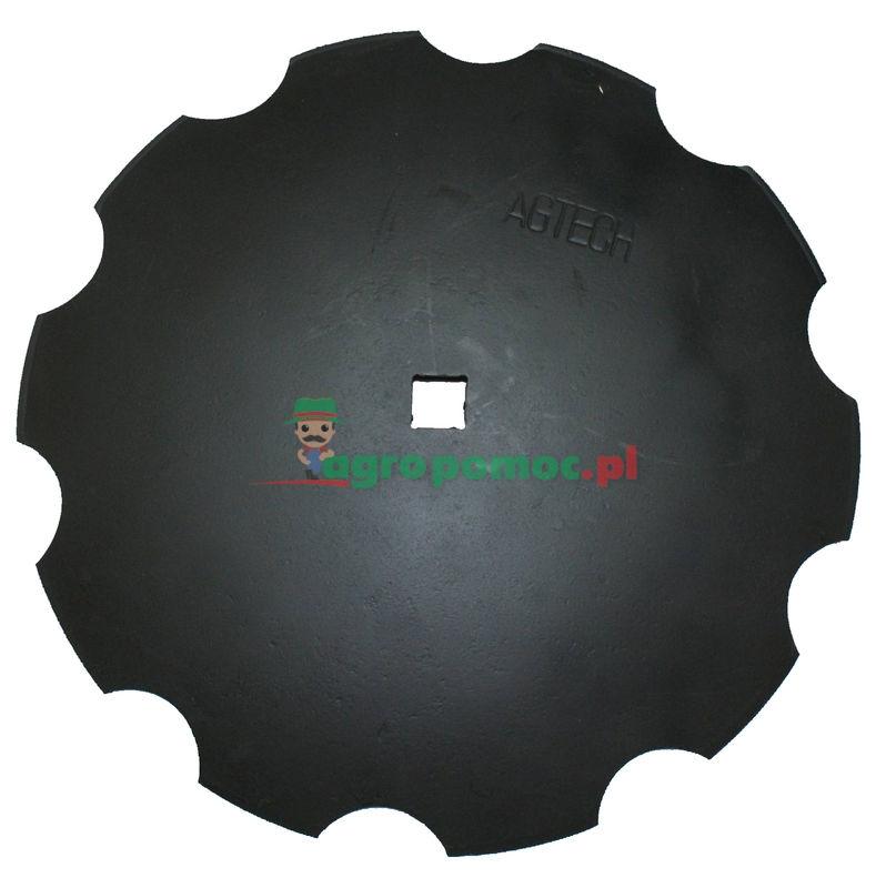 AGTECH Talerz uzębiony D = fi 560 mm,  C = otwór 30x30 mm, F = 65 mm,  S = 4 mm | 1202030130