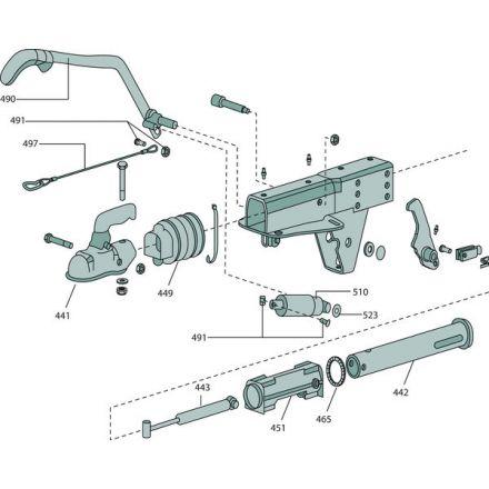 BPW Fahrzeugtechnik Dźwignia hamulca ręcznego | 05.203.30.28.0