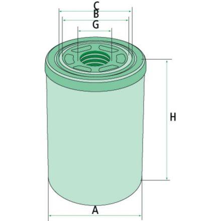 Filtr oleju hydraulicznego/przekładniowego | 87413810