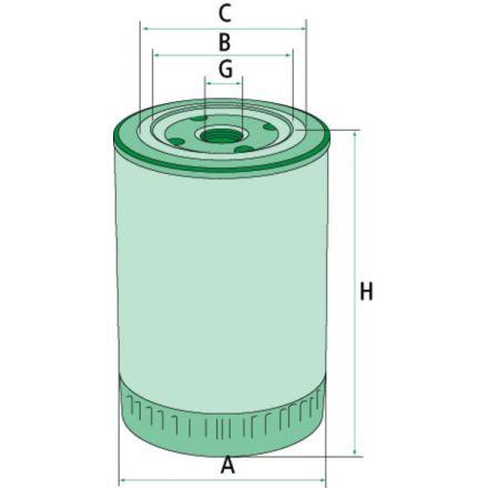 Filtr oleju silnikowego | 87803205