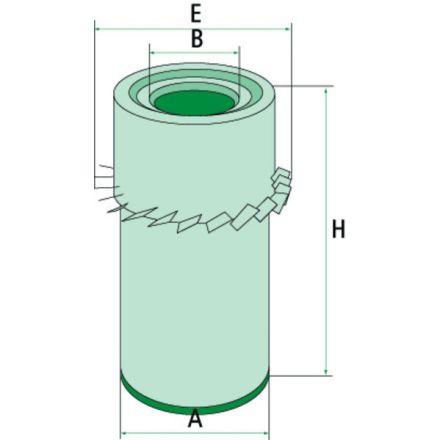 Filtr powietrza | P00274
