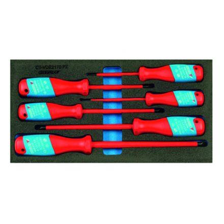 GEDORE Zestaw wkrętaków, VDE (dla elektryków) | 1500 CT1-VDE 2170 PZ