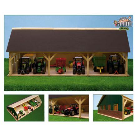 Kids Globe Drewniana szopa na traktor