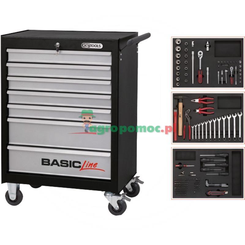 KS Tools BASIC 7 podstawowy wózek warsztatowyczarny/srebrny