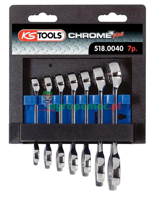 KS Tools CHROMEplus® Ringmaulschlüssel-Satz, extra kurz, 7-tlg., 10-19mm