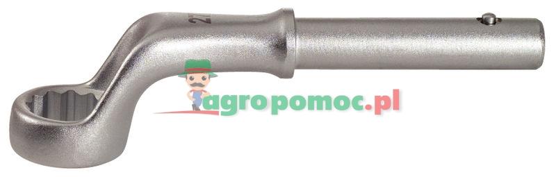KS Tools CLASSIC Klucz oczkowy do dociągania, wygięty, 60mm