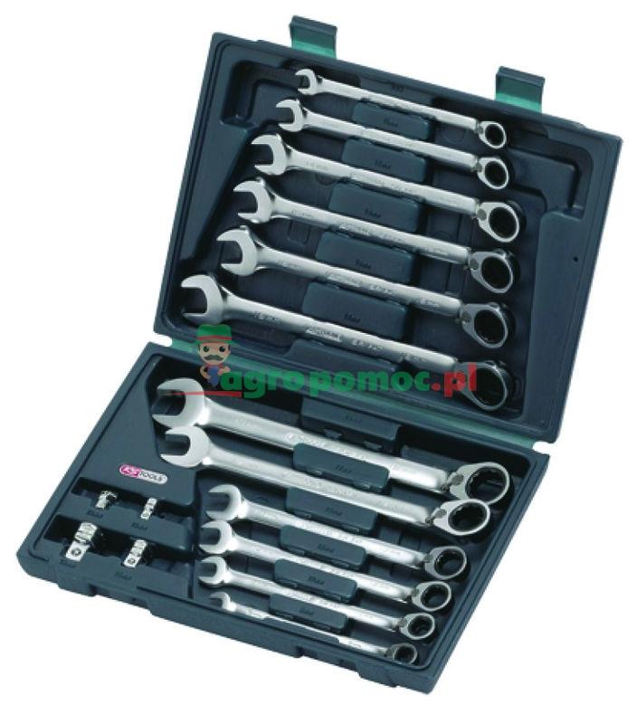 KS Tools GEAR+ Klucz szczękowo-oczkowy - zestaw,p/l,16-częściowy