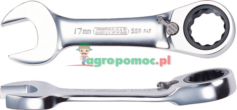 KS Tools GEARplus® Ratschenringmaulschlüssel, extra kurz, 15mm
