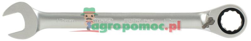 KS Tools GEARplus® RINGSTOP-Ratschenringmaulschlüssel, umschaltbar, 18mm