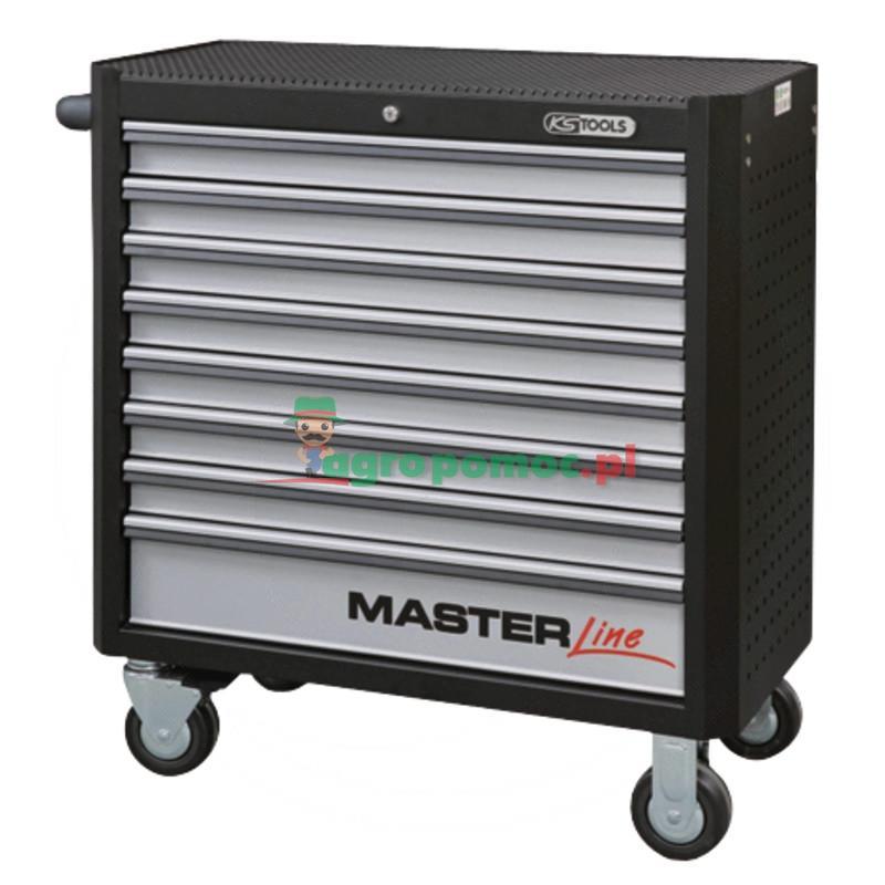 KS Tools MASTERline CZARNO/SREBRNY Wózek warsztat z 2-stopniowa blokada, z 8 szufladami, XL