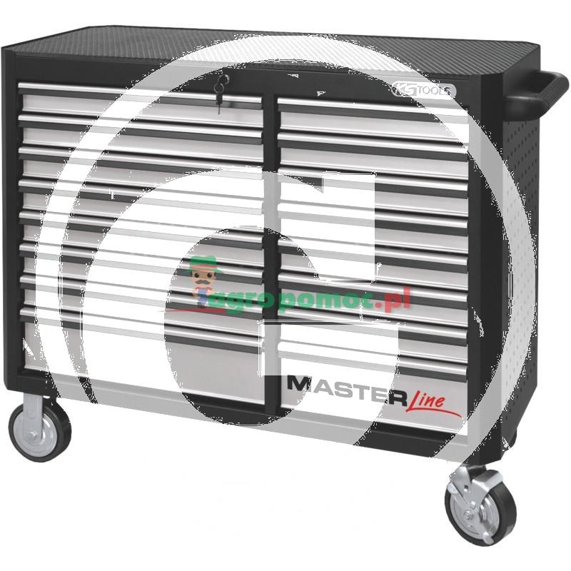 KS Tools MASTERlineCZARNY/SREBRNY duży wózek warsztatowy, 16 szuflad
