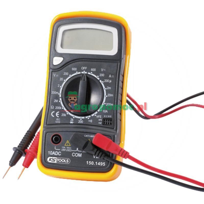 KS Tools Multimetr Elektroniczny Z Zestawem Próbników