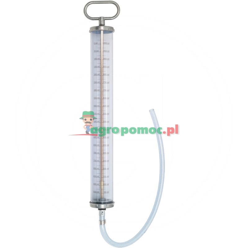 KS Tools Pompa dozująca PVC,wielkość przesuwu1000 ml,z wężem i skalą
