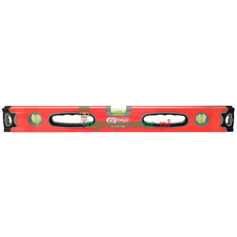 KS Tools Poziomnica - profil aluminiowyz poziomowaniem rur, 500mm