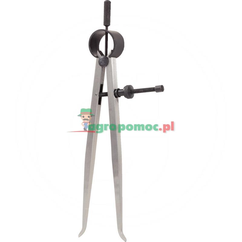 KS Tools Precyzyjny sprezynowy cyrkiel z mackamiwewnetrznymi, 200mm