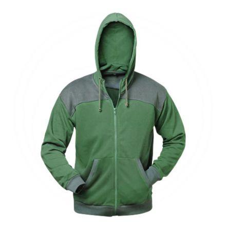 Kurtka - sweter, zielono/szara