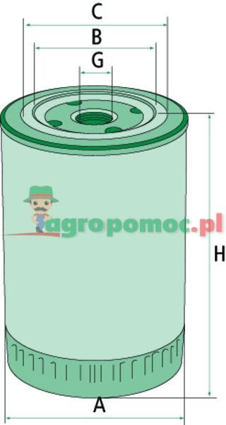 Mann Filter Filtr oleju hydraulicznego/przekładniowego | 1909130