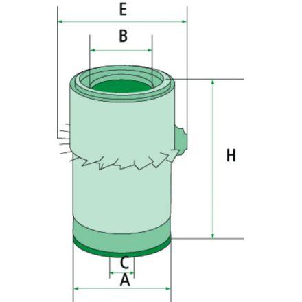 Mann Filter Filtr powietrza   P00504