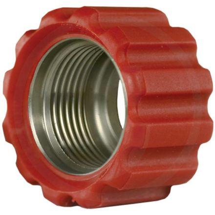 Nakrętka złączna 22x1,5 16,4 mm czerwona VA