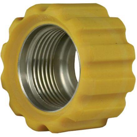 Nakrętka złączna 22x1,5 16,4 mm żółta VA
