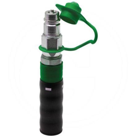 Wtyczka - uchwyt z tworzywa,kolor zielony (-)