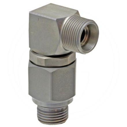 Złącze obrotowe - kolanko 1/4 x 08L (AG-AG)